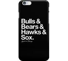 Loyal to Chicago - South Side (White Print) iPhone Case/Skin