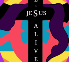 He's Alive Easter Egg and Cross T-Design Sticker