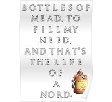 Nord's Life Mead Poster Poster