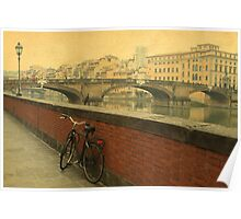 Old bridge in Florence, Italy Poster
