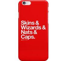 Loyal to D.C. (White Print) iPhone Case/Skin