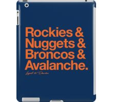 Loyal to Denver (Orange Print) iPad Case/Skin