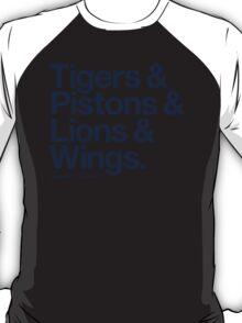 Loyal to Detroit (Navy Print) T-Shirt