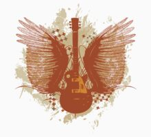 Guitar With Wings by retrorebirth
