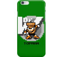 Top Man with Black Text iPhone Case/Skin