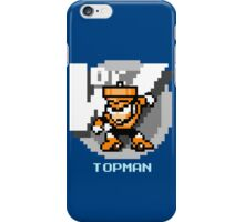 Top Man with Ice Blue Text iPhone Case/Skin