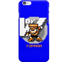 Top Man with Orange Text iPhone Case/Skin