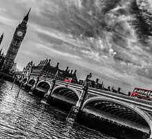 Three Red London Buses by Scott Anderson