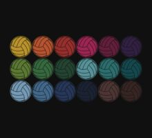Cute Colorful Volleyballs by House Of Flo