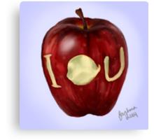 Moriarty IOU apple- BBC Sherlock Canvas Print