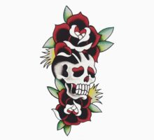 Rose on Skull on Rose by BonyHomi