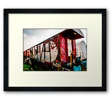 Graffiti train Framed Print