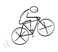 Stylized Bicyclist Photographic Print