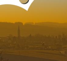 Haze, sunset and city skyline   landscape photography Sticker