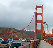 golden gate traffic  by photoeverywhere