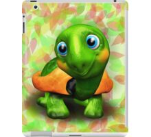 Green Turtle Baby 3D iPad Case/Skin