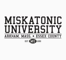 Miskatonic University - Black by Josh Legendre