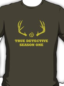 True Detective - Season One Antlers - Yellow T-Shirt