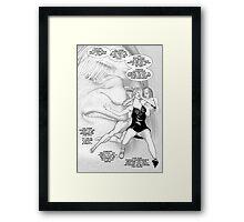 Faith Fallon Graphic Novel Page © Steven Pennella Framed Print