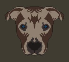Pixel Art Pitbull - PixelPibble by erikaandmonty