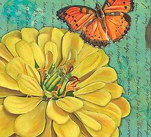 Verdigris Floral 2 by Debbie DeWitt