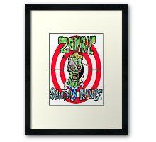 Zombie Shooting Range Framed Print