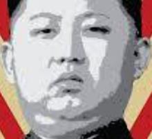 Kim Jung Un wants your respect. Sticker