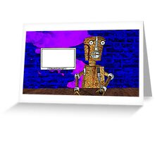 Robot journalist Greeting Card
