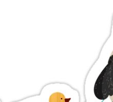 Cute Panda and Ducks Sticker