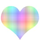 Plaid Rainbow Heart by rachels1689