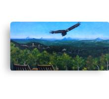 Spirited Eagle - Acrylic Painting Canvas Print