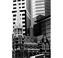 Albert St Uniting Church (B&W) Photographic Print