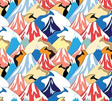 color pattern of the mountains by Tanor