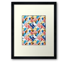color pattern of the mountains Framed Print