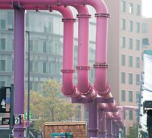 potsdamer platz water pipes by photoeverywhere