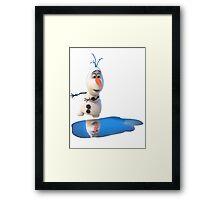 Olaf Frozen Puddle Framed Print