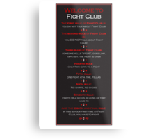 Fight Club - Welcome to Fight Club Metal Print