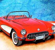 1956 Corvette Roadster by Stuart Row