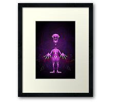 Fun Pink Alien Telepathic Power Framed Print