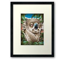 Koala Hugging a Tree Framed Print