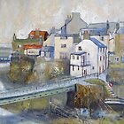 Looking Down to The Bridge, Staithes by Sue Nichol