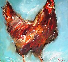 chicken study  by artistpixi
