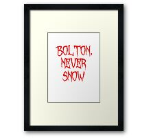 Bolton Never Snow Framed Print