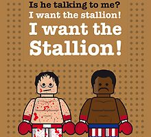 My rocky lego dialogue poster by Chungkong