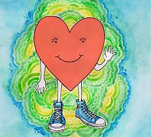 A Heart With Sneakers On by kpdesign