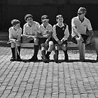 Four schoolboys and a teacher by awefaul