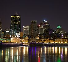 Montreal Old Port at night by louishay