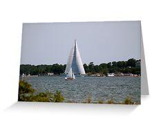 Sailboats Big & Small Greeting Card
