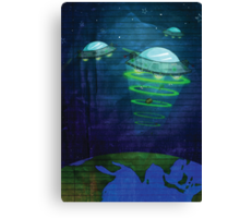 UFO - notepad style Canvas Print