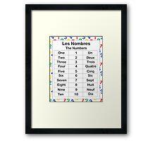 Les Nombres Framed Print